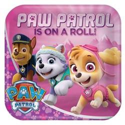 Roze Paw Patrol borden (groot 23 cm)