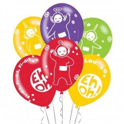 Teletubbies ballonnen 4 kleuren