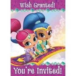 Shimmer en Shine feestartikelen uitnodigingen