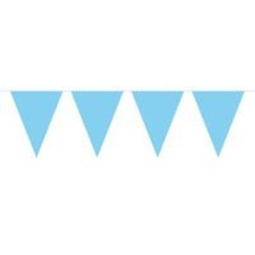 vlaggenlijn effen licht blauw (mini)