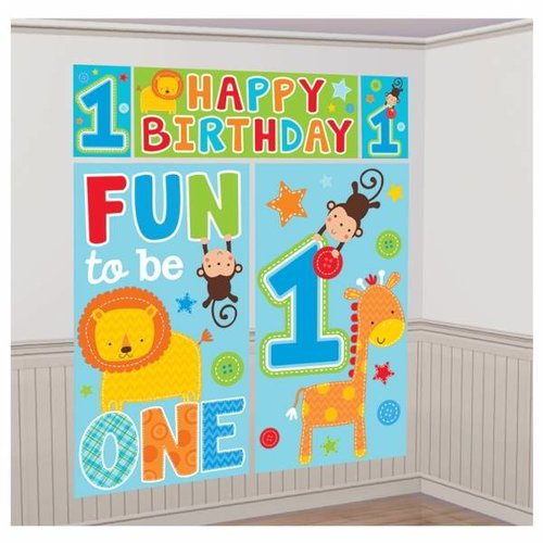 fun to be one 5-delige mega poster (safari) jongen