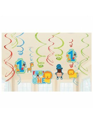 hangdecoratie fun to be one (safari) jongen
