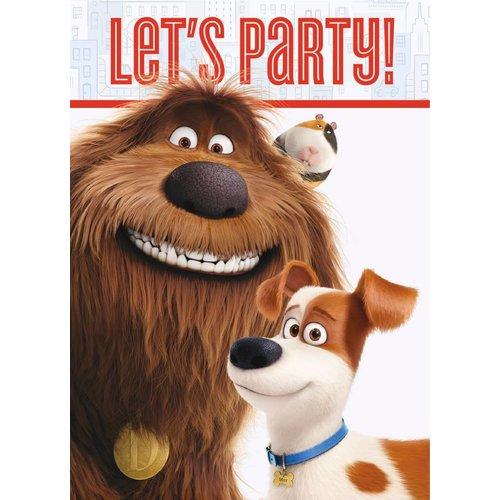 Secret Life of Pets feestartikelen uitnodigingen