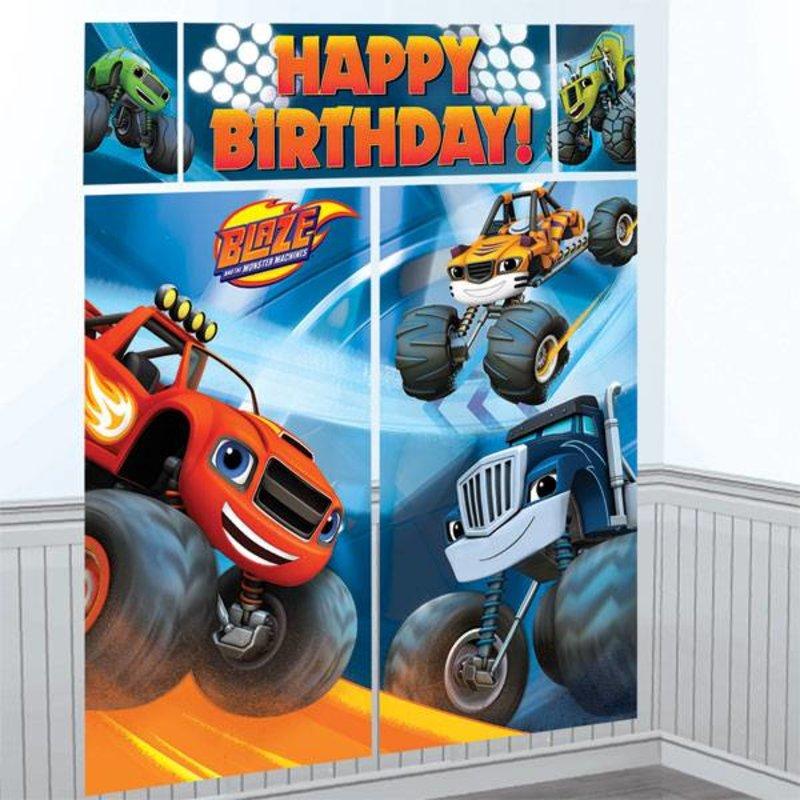 Blaze en de monster wielen feestartikelen MEGA poster (5 delen)