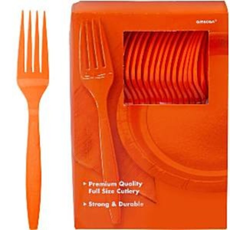 oranje plastic vorken per stuk