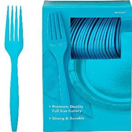 blauwe plastic vorken per stuk