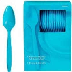 blauwe plastic lepels per stuk