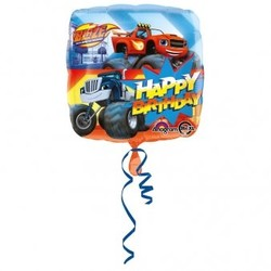 Blaze en de monster wielen vierkante ballon happy b-day