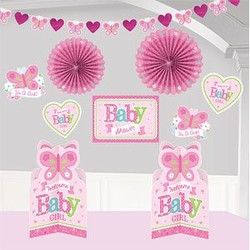 baby girl kamer decoratie