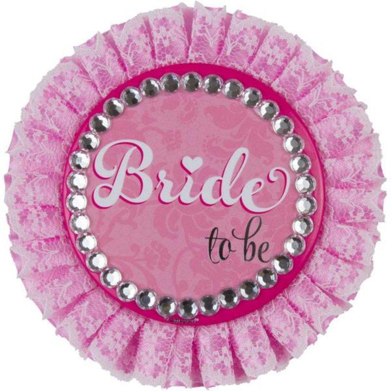 bruid button roze