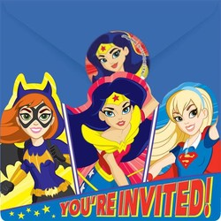 DC Super Hero Girls uitnodigingen