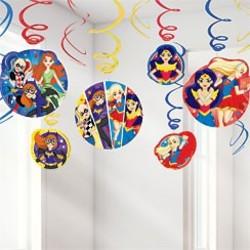 DC Super Hero Girls hangdecoratie (12 stuks)