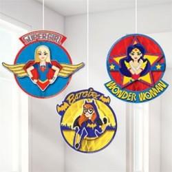 DC Super Hero Girls hangdecoratie honeycomb 3 st