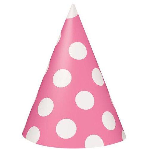 Roze stip hoedjes