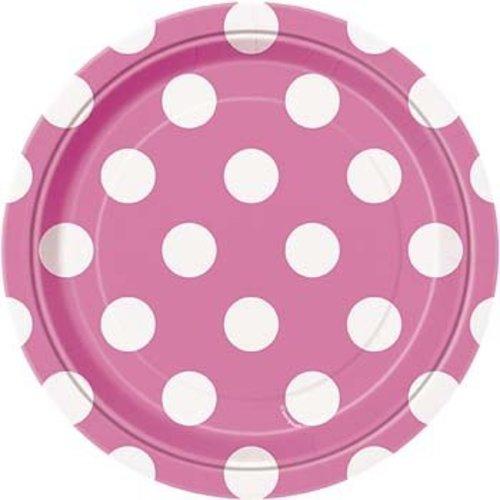 Roze stip gebaksborden