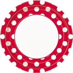 rode stip borden groot