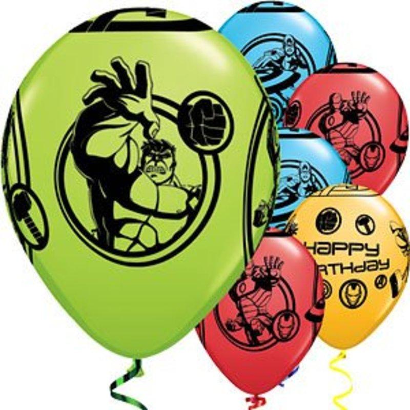 Avengers latex ballonnen gekleurd