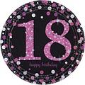 18 jaar feestartikelen glitter roze