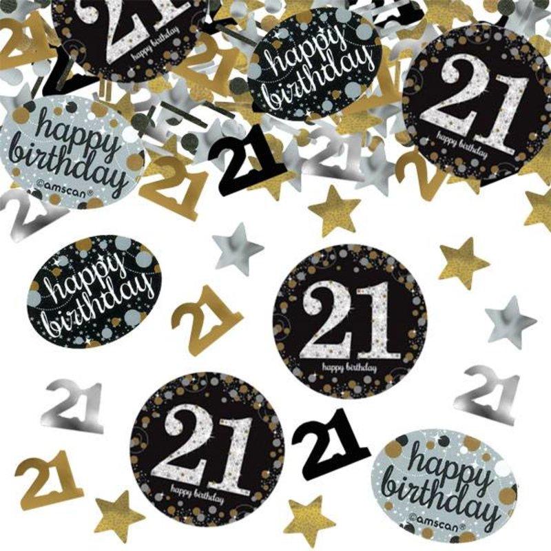 Gouden glitter confetti leeftijd 21