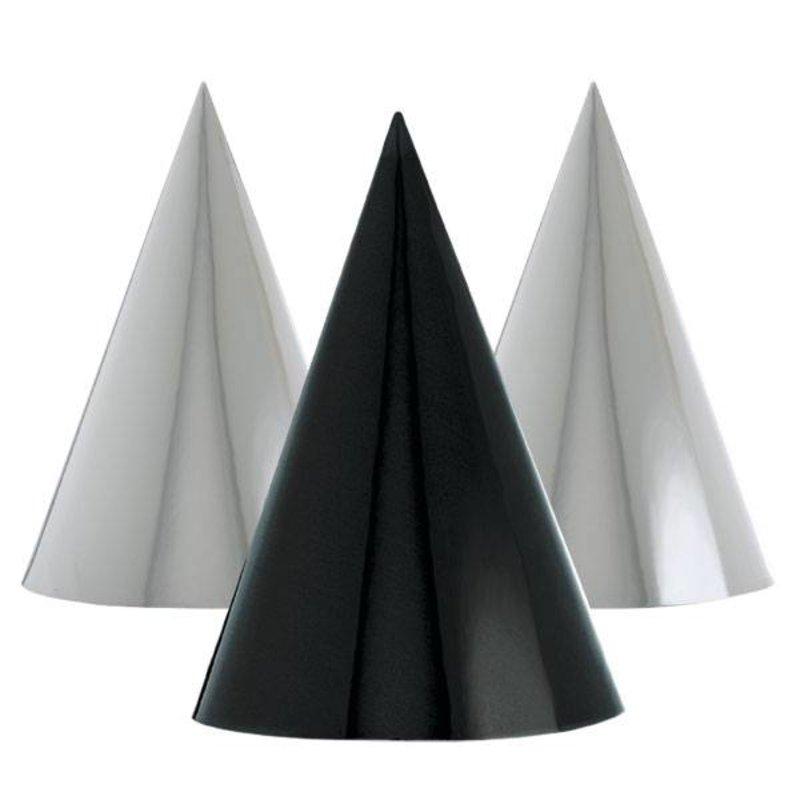 zwarte en witte glitter hoedjes