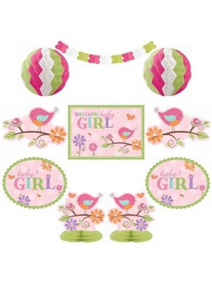 kamer decoratie kit geboorte meisje (vogels)