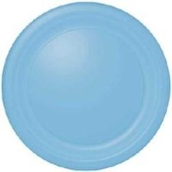 Gebaksbordje licht blauw, 18 cm / 20 stuks