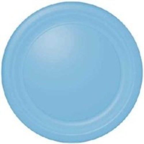 Groot bord,  licht blauw, 23 .cm, . 16 stuks