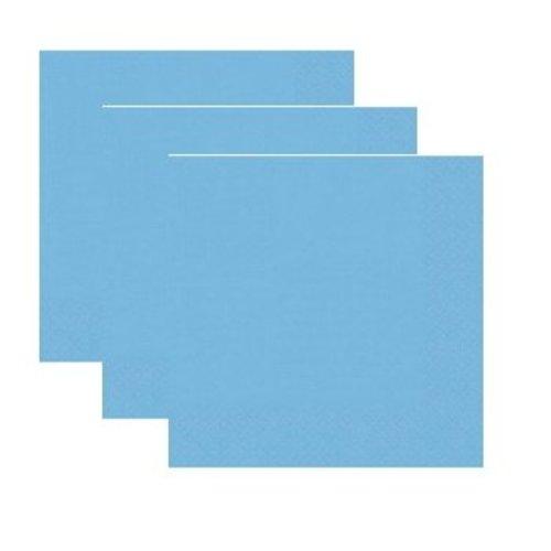 Servetten,  licht blauw 20 stuks