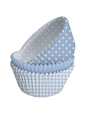 licht blauwe cupcake vormpjes (75 stuks)