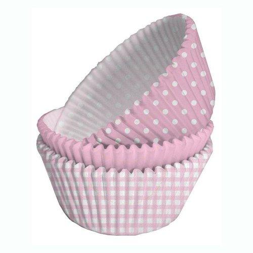 licht roze cupcake vormpjes (75 stuks)