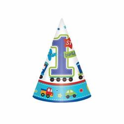 eerste verjaardag feesthoedjes transport, 8 stuks