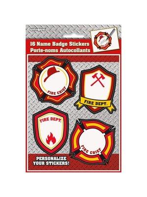 brandweerfeestje naam stickers