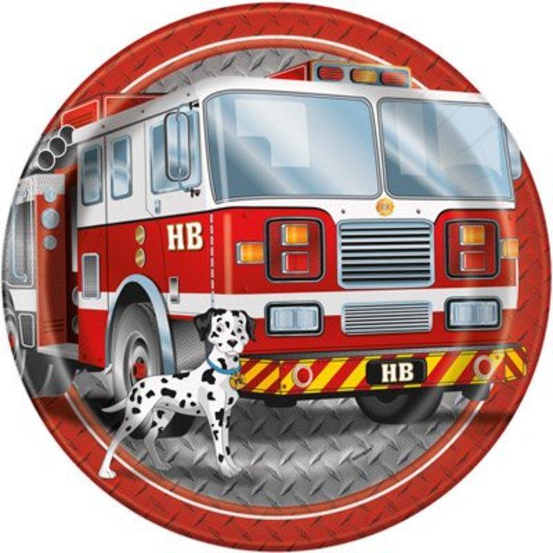 Brandweerfeestje, 8 grote kartonnen brandweerborden