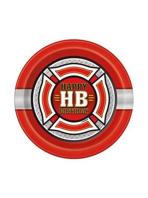 Brandweerfeestje gebaksbordjes