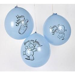 Geboorte ballon jongen (10 stuks)