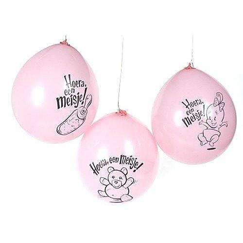 Geboorte ballon meisje (10 stuks)