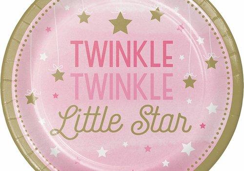 Eerste verjaardag versiering 1 jaar: one little star (meisje goud & roze)