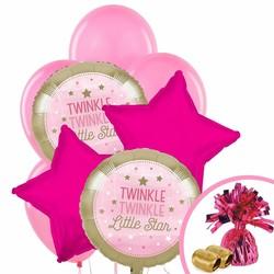 Twinkle Twinkle Little Star pink balloon pack