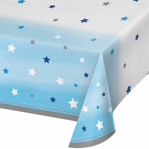 Twinkle Twinkle Little Star bleu 1e birthday tafelkleed