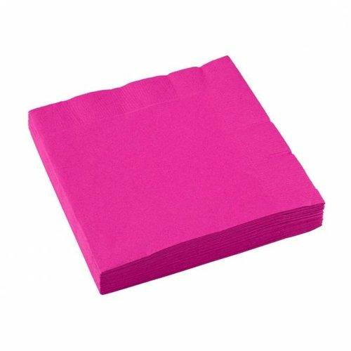 Servetten, knal roze 20 stuks