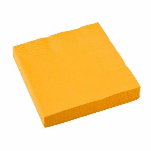 Servetten, geel