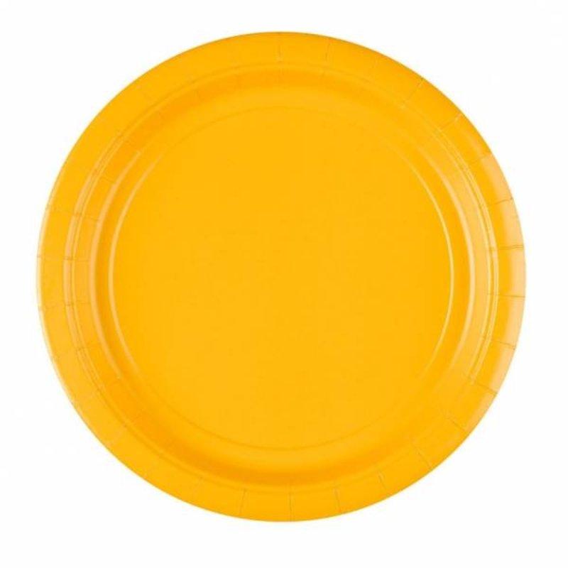 borden, geel. 16 stuks