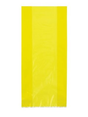 Cello bag, geel (feestzakjes / inpakzakjes 30 stuks)