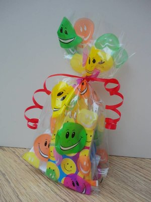 Cello bag, smile (feestzakjes / inpakzakjes 20 stuks)