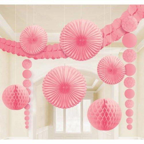 feestpakket met versiering (licht roze)