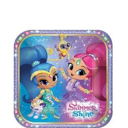 Shimmer & Shine feestartikelen gebaksborden  (vierkant)