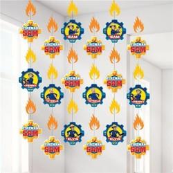 Brandweerman Sam versiering, lange hang slingers