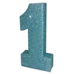 Blauwe staande 1 met glitters