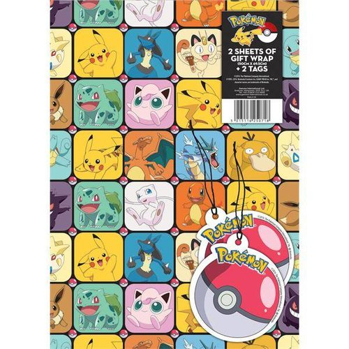 Pokemon inpak papier + 2x label