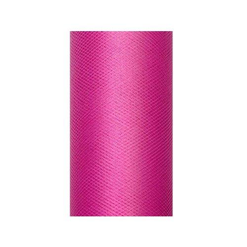 Luxe tule fuchsia roze op rol